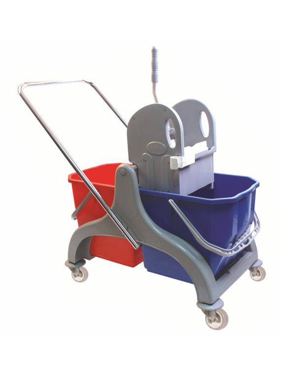 Çift Kovalı Temizlik Arabası Plastik